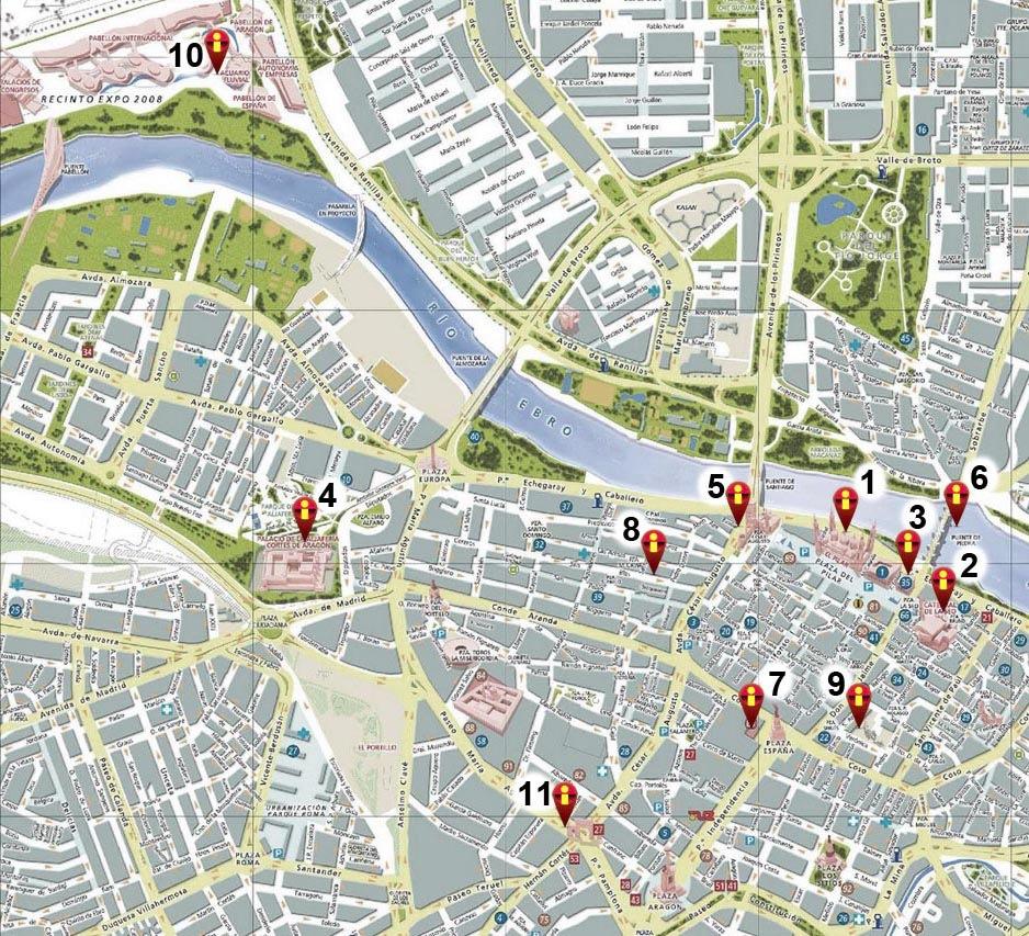 Mapa Saragoca Ciudad