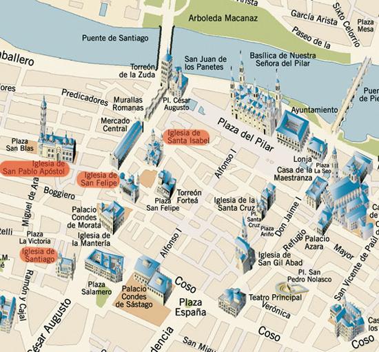mapa de espanha saragoça Mapas de Saragoca, Espanha mapa de espanha saragoça
