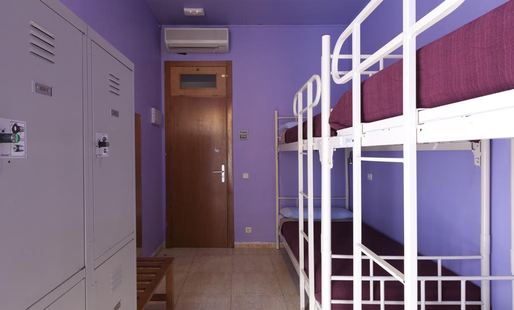 Quartos dormitório no Hostel em Madrid